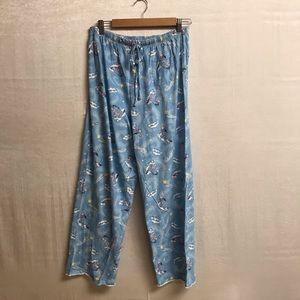 Women's Disney Eeyore Pajama Pants Size Large